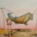 Im Morgengrauen   Öl aufLeinwand   100 x 80 cm
