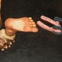 Schmiedes Frau   Öl aufLeinwand   100 x 80 cm