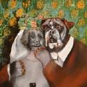 Hundehochzeit   Öl aufLeinwand   100 x 80 cm