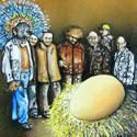 Das goldene Ei   Öl aufHolz   12 x 12 cm