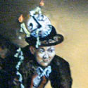 Feuerspiel   Öl aufHolz   17,5 x 14 cm