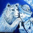 Blaue Teddybären   Öl aufHolz   14 x 14 cm