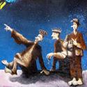 Drei Könige   Öl aufHolz   35 x 20 cm