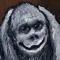 Drei Affen   Öl aufHolz   10,5 x 15 cm