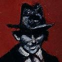 Franz Kafka und Gregor Samsa beim Gassi gehen   Öl aufHolz   15 x 10,4 cm