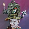 Aesop in Thrakia   (2011) Öl aufPanel   15 x 10,4 cm